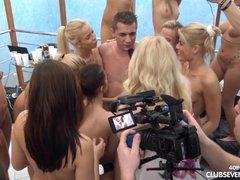 40 girls 1 guy reverse... video