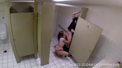 Wicked - Couple has sex in public bathroom