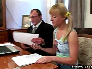 Tricky Old Teacher - Gorgeous blonde chick