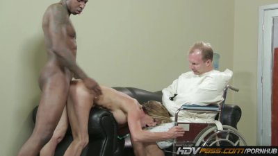 Horny MILF Takes a BBC in Front of Cuckold Husband