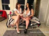 Busty Angelina Castro & Sara Jay School Girls Masturbation!