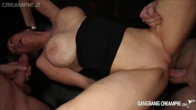 G2 Granny gets filled up with creampies