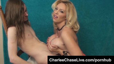Lucky Younger Guy Tit Fucks Hot Tampa MILF Charlee Chase