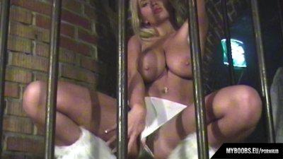 Beautiful Czech girl Dominika C. shows her big pussy lips