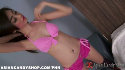 Sexy Thai Hooker with a great body strips naked