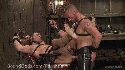 Twisted Pervert Torments Helpless Stud