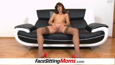 Granny Lada wears stockings an