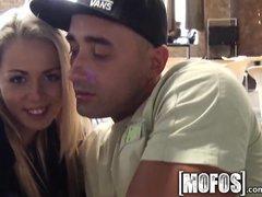 Mofos   Young couple fuck in café in public