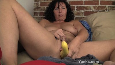 Sexy Lynn Fucking A Vegetable