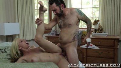 Wicked - Hot blonde cheats on her BF