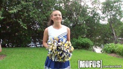Mofos - Sexy cheerleader sucks big cock