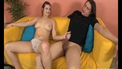 Cute teen gets blasted with cum