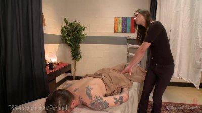 Massage Turns Into Hot TS Fuck