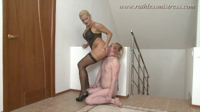 RuthlessMistress - Worshipping her heels and ass