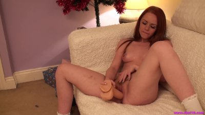 Naughty slut Ella Hughes spanked by Santa