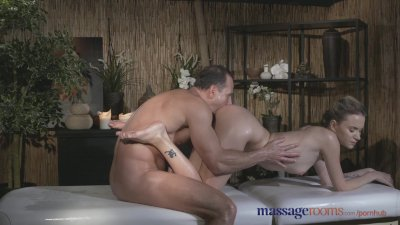 Massage Rooms Tattooed stunner has beautiful shaved hole filled with cock
