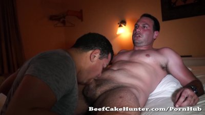 Sweaty blowjob for a tall and handsome