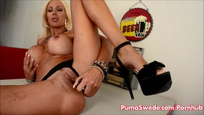 Euro Blonde Puma Swede Wants To Be Eaten!