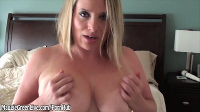 Busty Maggie Green Plays With Hitachi & Stuffs Panties Deep!