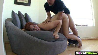 BrokenTeens - Jodi Taylor Takes a Pounding and a Massive Facial