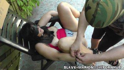 Sex slave bondaged, barebacked and creampied