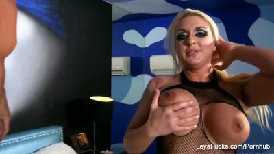 Kinky blonde Leya humiliates you and gives her new man a BJ