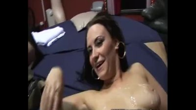 Amateur gangbang party in a swingers club
