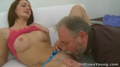 Old Goes Young - Donna is a brunette with a secret obsession for older men