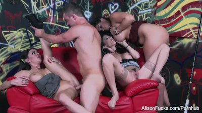 Sexual energy goes wild in this amazing 4some with Alison, Dava, & Jessica