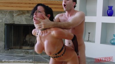 ANALIZED - Veronica Avluv's MILF ass double stuffed with huge cocks