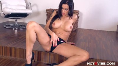 Crazy hot MILF Stacy Silver is so horny she fucks herself vigorously right