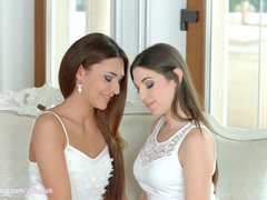 Preview 2 of I Missed You By Sapphic Erotica - Alexis Brill And Diana Dolce Lesbians