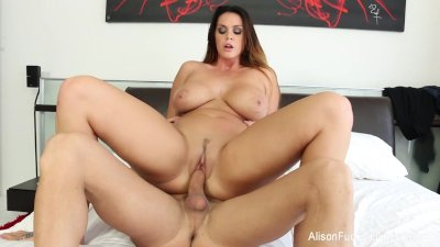 Alison Tyler gets her tight pussy fucked on the bed
