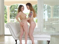 Preview 1 of Anal Pleasure By Sapphic Erotica - Misha Cross And Samantha Bentley Lesbian