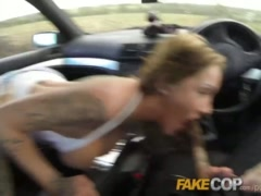 Fake Cop Anal slut gets cop cum in her butt