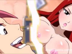 Fairy Tail XXX - Natsu and Erza... and Lucy!