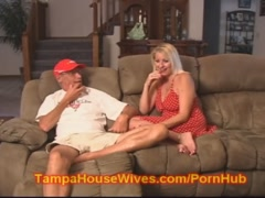 Husband and WIFE fuck the Slutty Baby Sitter