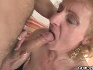 Blonde old woman is picked up for cock riding