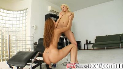 Big tittied milf gets fisted by her teen friend
