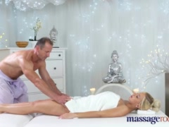 Preview 1 of Massage Rooms Horny Big Tits Blonde Milf Sucks And Fucks Hard Cock