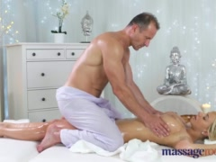 Preview 4 of Massage Rooms Horny Big Tits Blonde Milf Sucks And Fucks Hard Cock