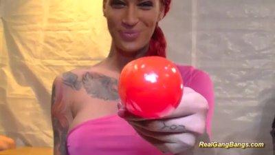 tattooed redhead loves hard ga