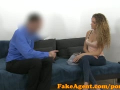 Preview 1 of Fakeagent Slim Curly Haired Babe Sucks And Fucks In Casting Interview