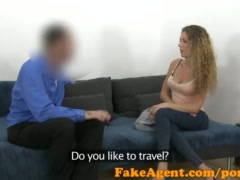 Preview 2 of Fakeagent Slim Curly Haired Babe Sucks And Fucks In Casting Interview