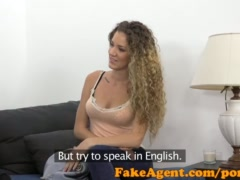 Preview 3 of Fakeagent Slim Curly Haired Babe Sucks And Fucks In Casting Interview