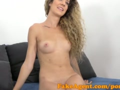Preview 6 of Fakeagent Slim Curly Haired Babe Sucks And Fucks In Casting Interview