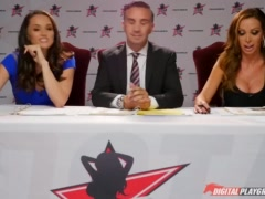 Nikki Benz   Tori Black judging blowjob skills in DPStar 3 Audition Ep 1