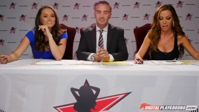 Nikki Benz & Tori Black judging blowjob skills in DPStar 3 Audition Ep 1