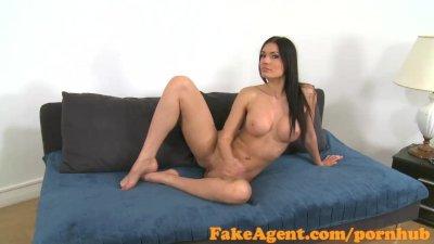 FakeAgent Beautiful model sucks and fucks in Office