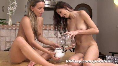 Hot Brunette Girl Fucked Doggy Style on Webcam